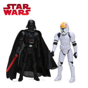 Airborne Clone Trooper Action Figure and Darth Vader Logo