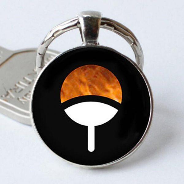 Naruto Keychain Black Orange