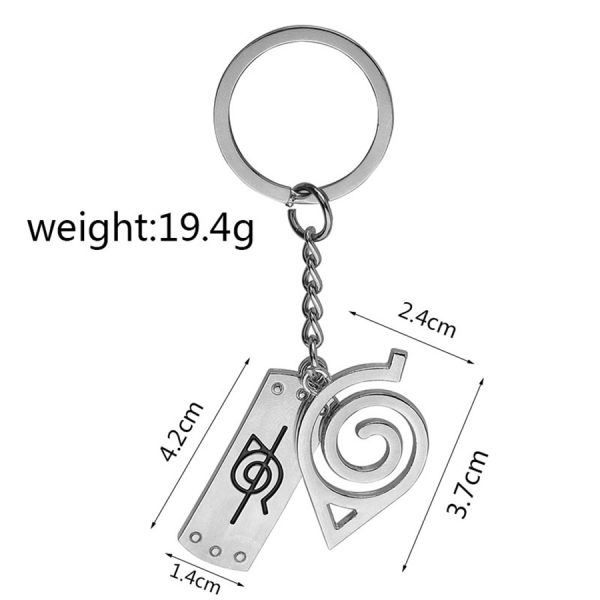 Naruto Keychain Logo Width Height and Weiht
