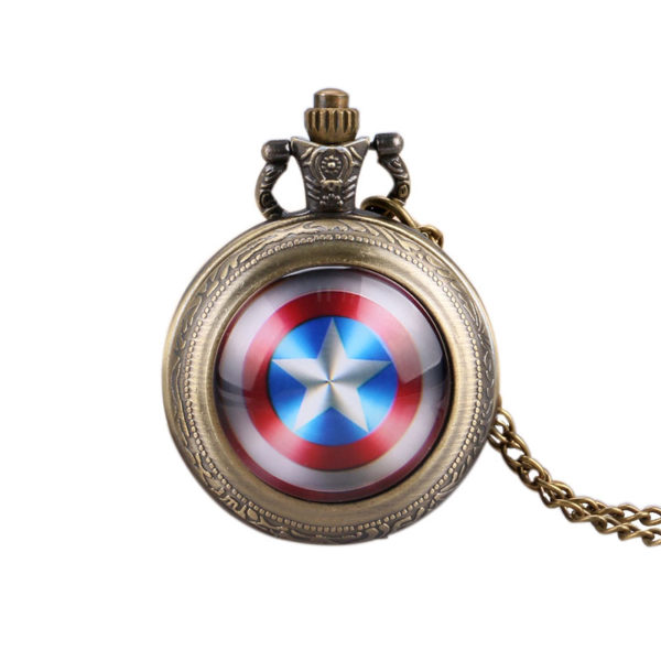 Pocket Watch Captain America Shield