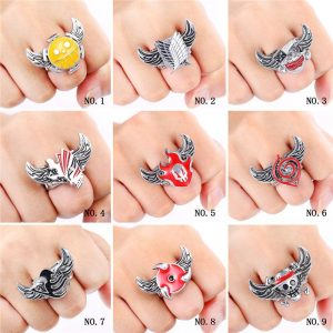 Anime Rings Cosplay Numbering