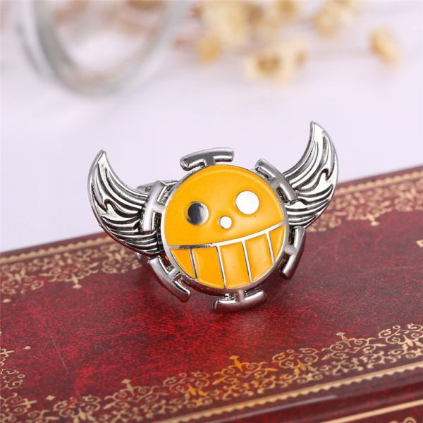 One Piece Yellow Ring with Wings