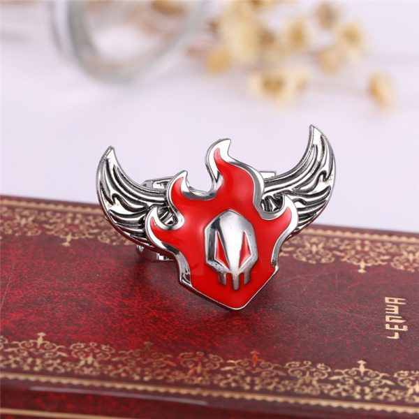 Anime Rings Cosplay Red Fire Design