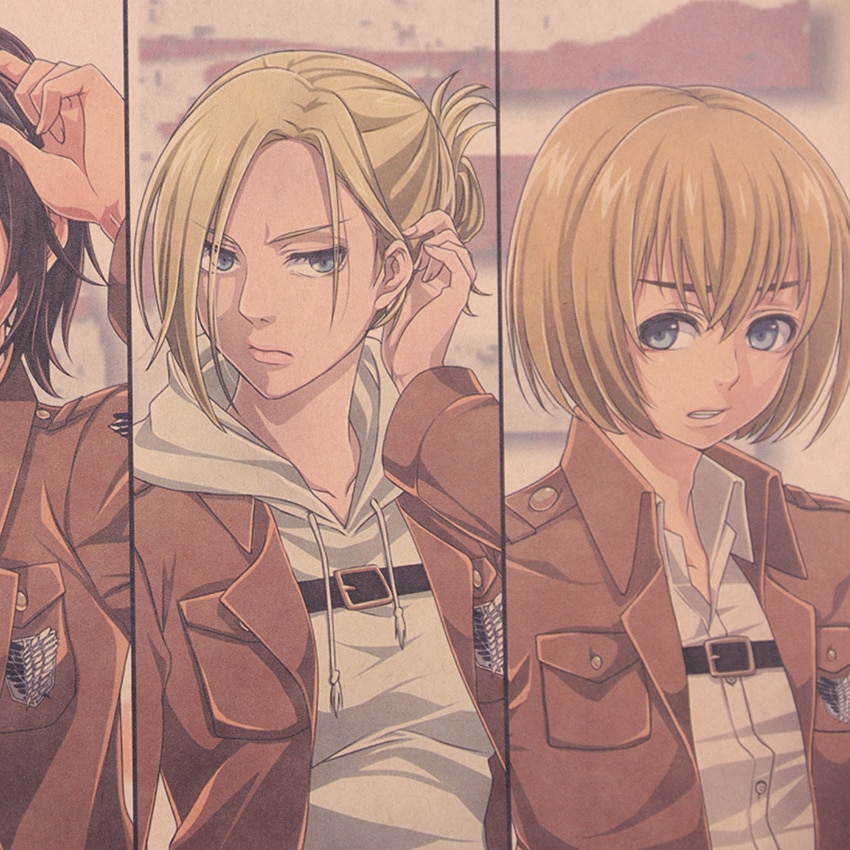 Attack on Titan Character Collection Poster - RykaMall