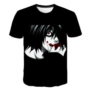 Harujaku Death Note Anime T-Shirts Skull 3D Printed