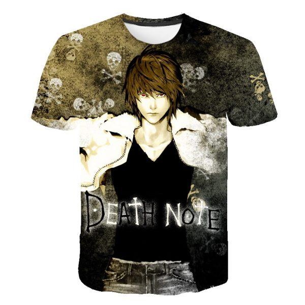Harujaku Death Note Anime T-Shirts Skull 3D Printed