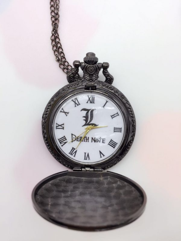 Death Note Theme Pocket Watches With Necklace Chain