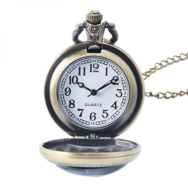 Death Note Theme Pocket Watch Necklace With Pendant