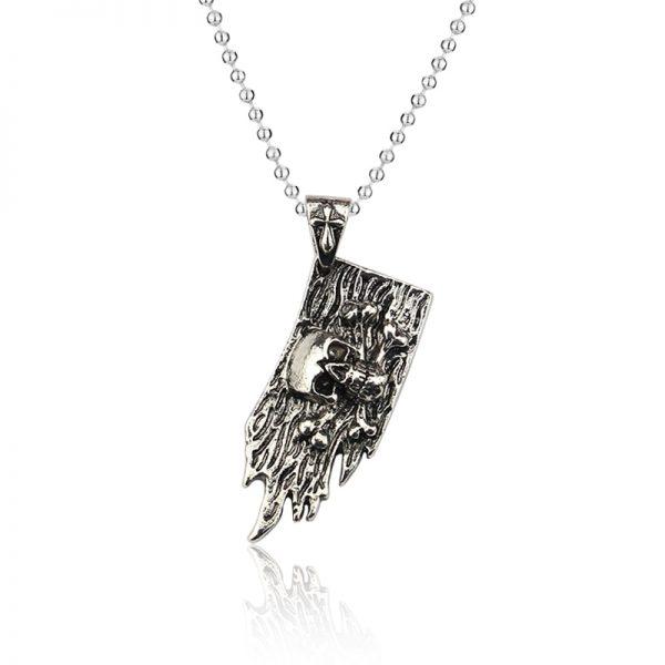 Anime One Piece Necklace Key Chain Skull Logo