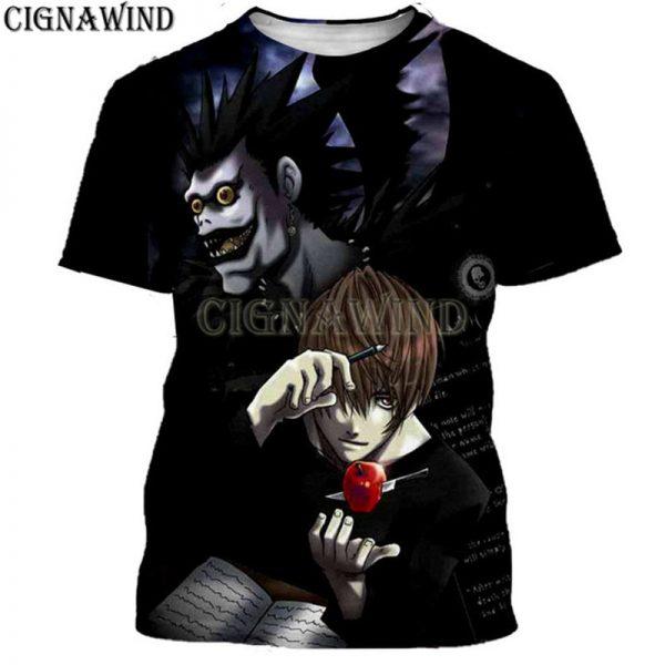 Harujaku Anime Death Note 3D Printed T-shirt