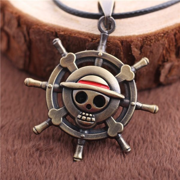 Anime One Piece Leather Necklaces For Men