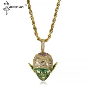 Dragon Ball Style Pendant Necklace With Rope Chain Gold Silver