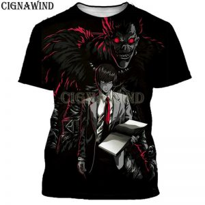 Harujaku Anime Death Note 3D Printed T-shirt