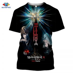 Death Note Anime 3D Print Oversized T Shirt For Men