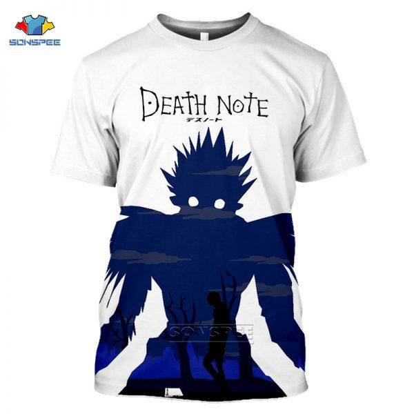 Death Note Anime 3D Print Oversized T Shirt For Men