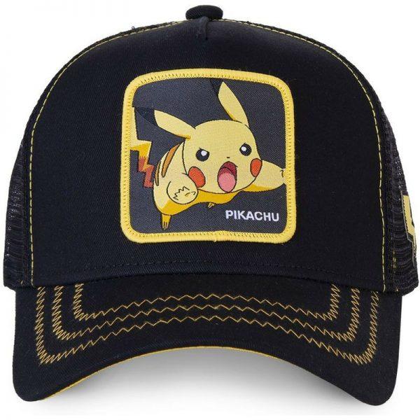 Pokemon Anime Black Snapback Cap