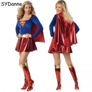 Adult Superwoman Dress Cosplay Costumes