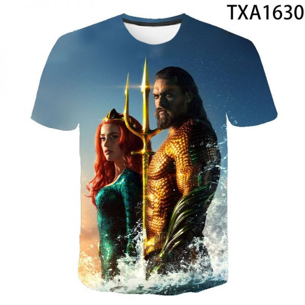 Aquaman 3D Printed T Shirt