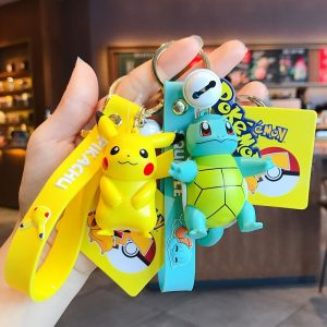 Pokemon Action Figure Pikachu Keychain