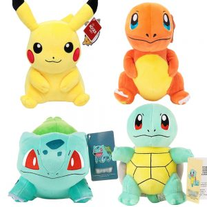 Charmander Squirtle Pikachued Bulbasaur Jigglypuff Lapras Eevee Anime Stuffed Toy