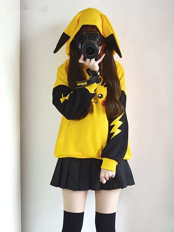 Yellow Hoodies Pokmon Cosplay Costume