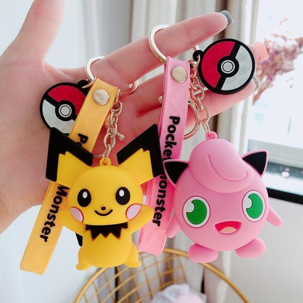 Silicone Pokemon Keychain