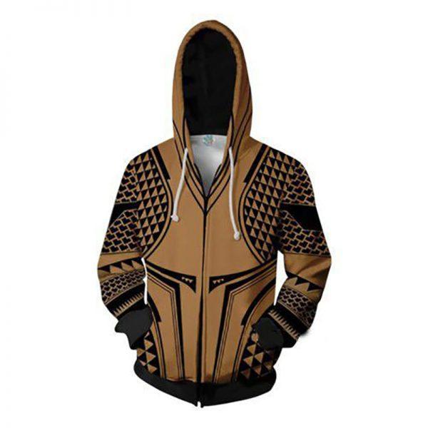 Aquaman Zipper Hoodies Sweatshirt