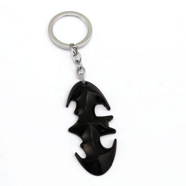Bat Shape Metal Keychain