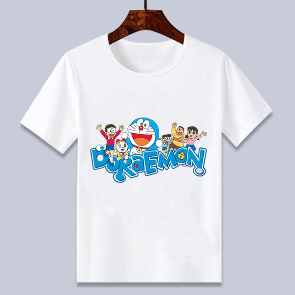 Doraemon White Cartoon T shirt