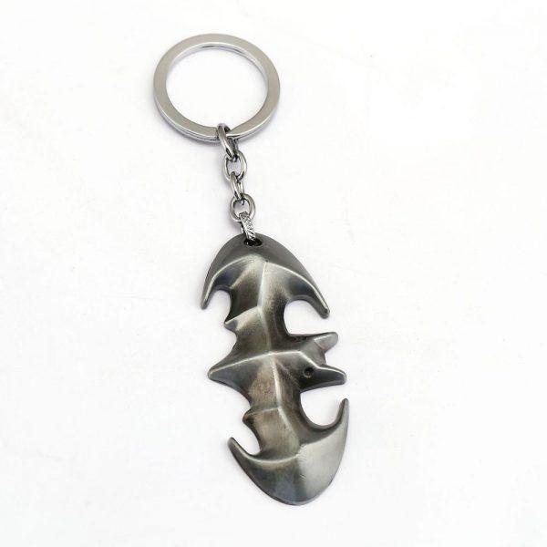 Bat Shape Metal Keychain