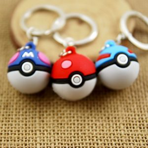 3D pokeball Pokemon Go game key chain