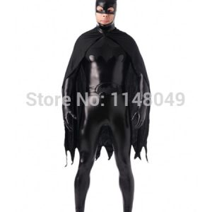 Dark Night Batman Shiny Metallic Superhero Costume