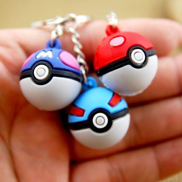 3D pokeball Pokemon Go game key chain