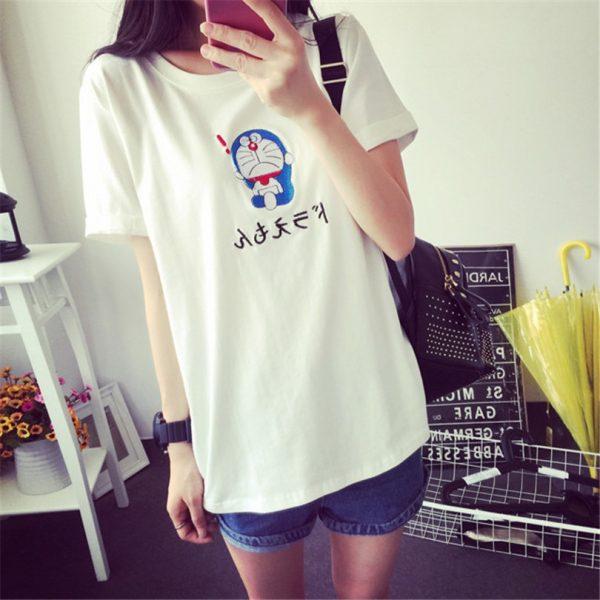 Korean Doraemon Tshirt For Women