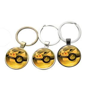 Pikachu Pokeball keyring chain