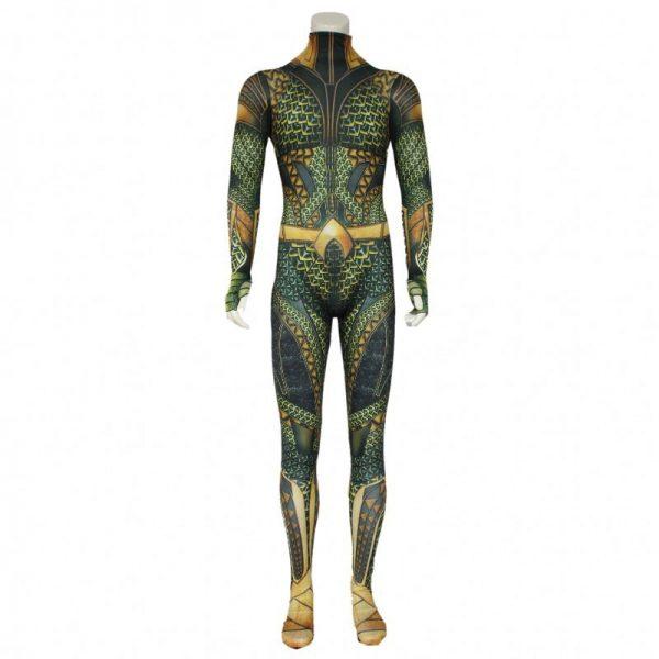Adult Men Hero Cosplay Aquaman Costume