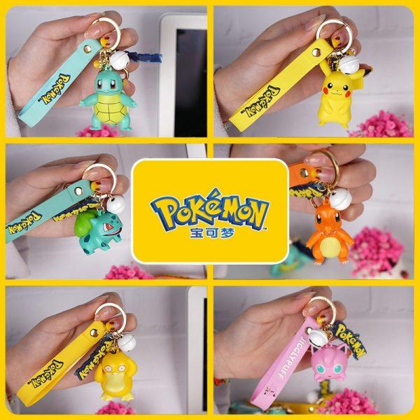 Pokemon Action Figure Pikachu Keychain