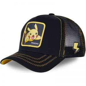 Pokemon Anime Black Snapback Cap