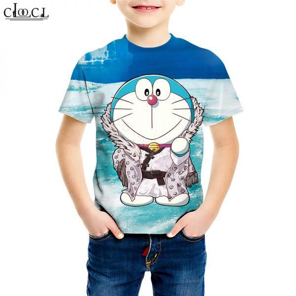Anime 3D Print Doraemon T Shirt 3D Print Boy Girl Short Sleeve T Shirts Japanese Classic Cartoon Childrens Tracksuit Casual Tops M018