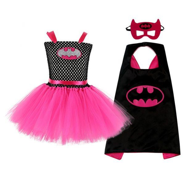 Superman Girls Dress with Mask Super Hero Baby Costume Kids Cosplay